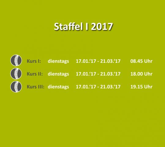 Bewegungs- & Wirbelsäulenkurs – Staffel I 2017