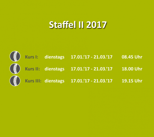 Bewegungs- & Wirbelsäulenkurs – Staffel II 2017