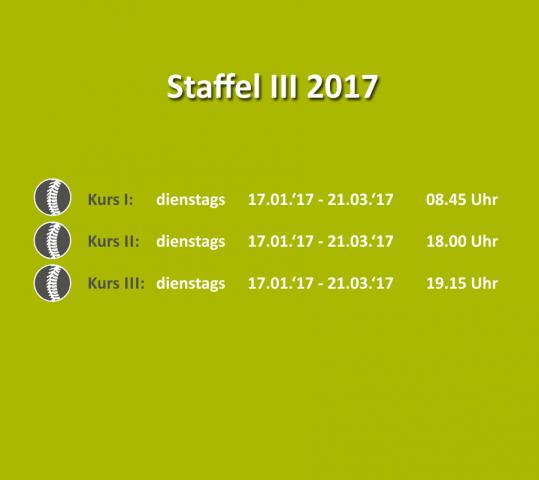 Bewegungs- & Wirbelsäulenkurs – Staffel III 2017